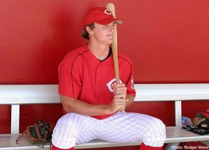 Jay Bruce patiently awaits his turn.